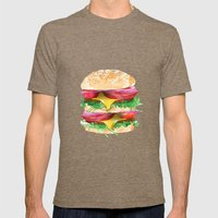 California Burger Mens Fitted Tee Tri-Coffee SMALL