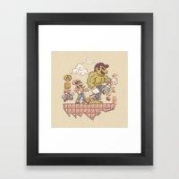 Radioactive Mushroom Framed Art Print