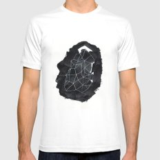 Akalento Mens Fitted Tee White SMALL