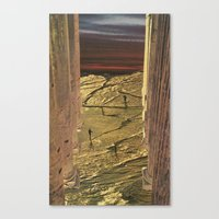 Golden Pillars 1 Canvas Print