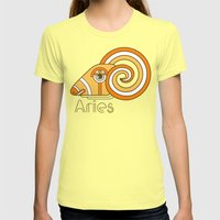 Deco Aries Womens Fitted Tee Lemon SMALL