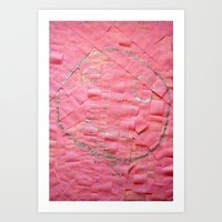 Smile on a pink toilet paper Art Print