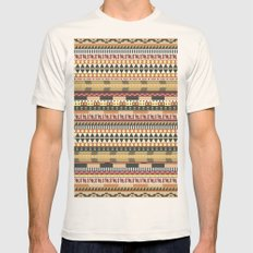 Aztec pattern Mens Fitted Tee Natural SMALL