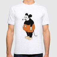 Mickey Da Rat Mens Fitted Tee Ash Grey SMALL
