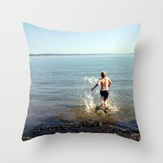 Into the drink Throw Pillow