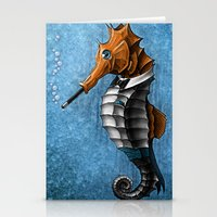 Sophisticated Seahorse Stationery Cards