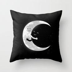 Moon Hug Throw Pillow