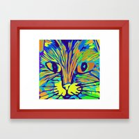 Orange Kitty 3 Framed Art Print