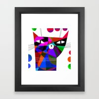 MOSAIC CAT Framed Art Print