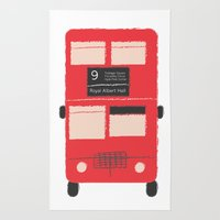 Red Double Decker Bus  Rug