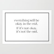 Inspiration to live by Art Print