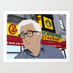 Woody Allen Cartoon Art Print