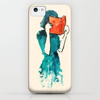 iPhone 5c Cases featuring Lost in a book by Budi Kwan