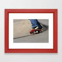 On the edge.... Framed Art Print