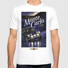 Motor Style Inc.: Rallye Monte Carlo Mens Fitted Tee White SMALL
