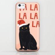 Black Cat Cute Fa La La … iPhone 5c Slim Case