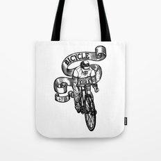 Bicycle Rider Tote Bag