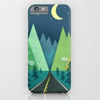 iPhone & iPod Case featuring The Long Road at Night by Jenny Tiffany
