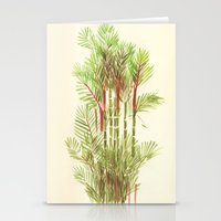 Palmier Rouge - Red Palmtree Stationery Cards