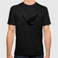 Raven Mens Fitted Tee Tri-Black SMALL