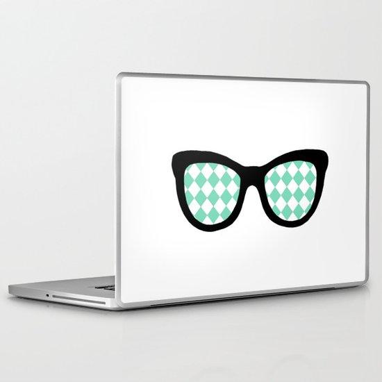 Mint Diamond Eyes Laptop & iPad Skin