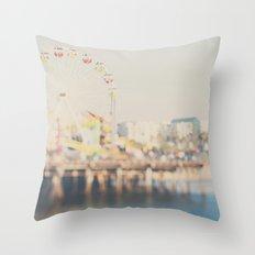 santa monica pier ...  Throw Pillow