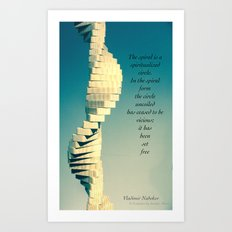 Spiral Sculpt and quote Art Print
