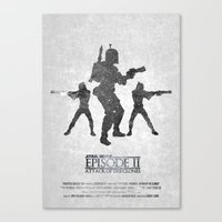 STAR WARS - Attack of the Clones (with Background) Canvas Print