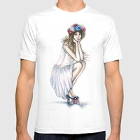 Fourth of July // Fashion Illustration Mens Fitted Tee White SMALL