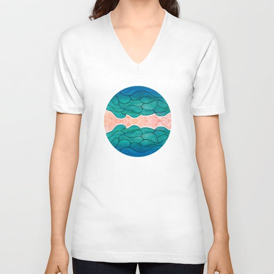 Ocean Flow V-neck T-shirt