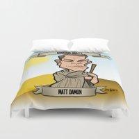 Nomad Matt (Matt Damon) Duvet Cover