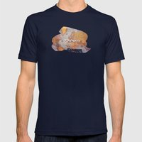 Wanderlust Map Mens Fitted Tee Navy SMALL
