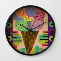 Fancy Ice Cream Wall Clock