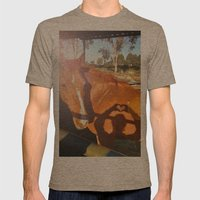 Abbie Mens Fitted Tee Tri-Coffee SMALL
