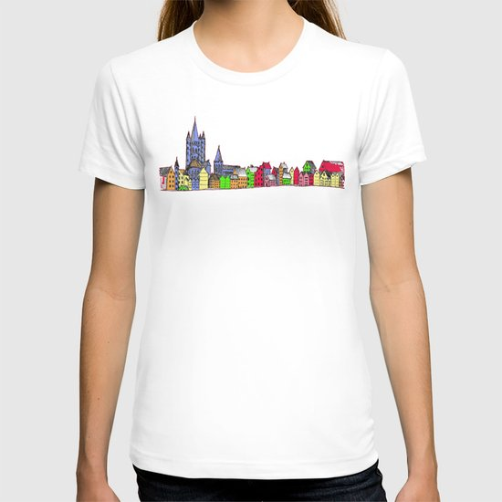 Sketchy Town in pink T-shirt