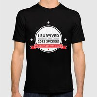 I SURVIVED 2012 SUCKER 2 Mens Fitted Tee Black SMALL