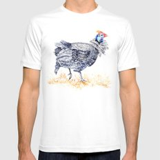 Guineafowl SMALL Mens Fitted Tee White