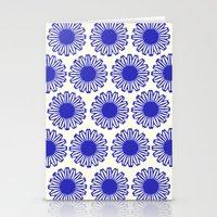 Vintage Flower Blue Stationery Cards