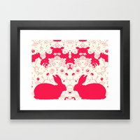 Red Rabbit Collaboration Framed Art Print