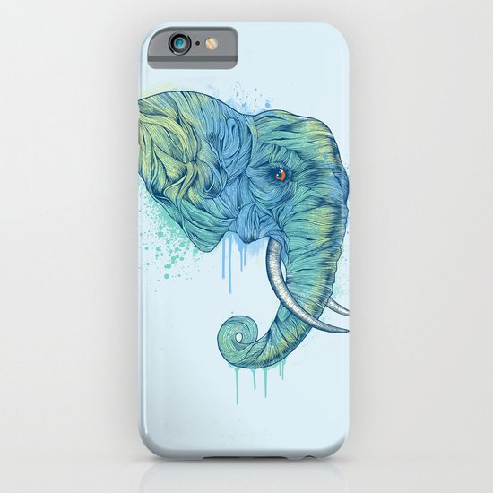 Elephant Portrait iPhone & iPod Case