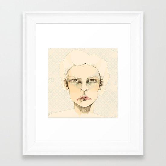 """""""portrait of anybody"""" Framed Art Print"""