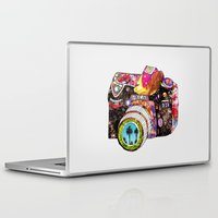 flowers Laptop & iPad Skins featuring Picture This by Bianca Green