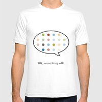 Damien Hirst, Outspoken … Mens Fitted Tee White SMALL
