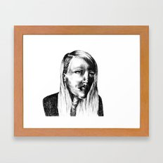 She Is Framed Art Print