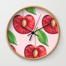 Cherry fruit pattern Wall Clock