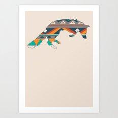 Graphic Foxy Art Print