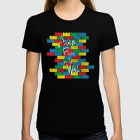 Brick In The Wall Womens Fitted Tee Black SMALL