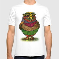 Owly Mens Fitted Tee White SMALL