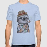 Mr.Sloth Mens Fitted Tee Athletic Blue SMALL