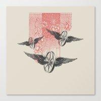 Cosmic Wheels Canvas Print